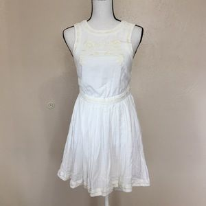 Free People Birds of a Feather White/Beige Dress